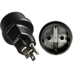 Microconnect PEUSC7FAD NEMA 5-15P Type F (Schuko) Black power plug adapter