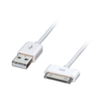 Lindy 31351 mobile phone cable White USB A Apple 30-pin 1 m