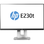 "HP EliteDisplay E230t touch screen monitor 58.4 cm (23"") 1920 x 1080 pixels Black,Silver Multi-touch Table"