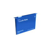 Rexel Crystalfile Extra A4 Suspension File 15mm Blue (25)