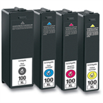 Lexmark 14N1921E (100XL) Ink cartridge multi pack, 1x510pg+3x600pg, Pack qty 4