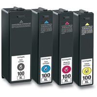 Lexmark 14N1921E (100XL) Ink cartridge multi pack, 1x510pg+3x600pg, Pack qty 4