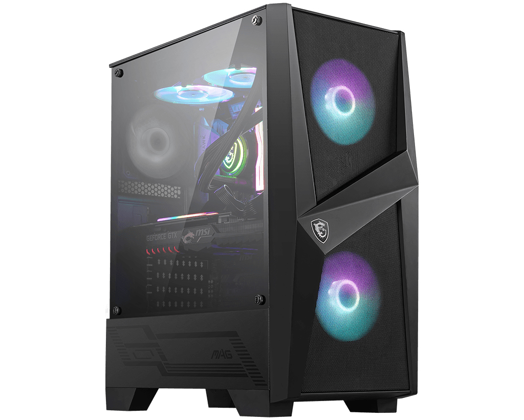 MSI MAG FORGE 100R computer case Midi-Tower Black,Transparent