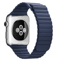 Apple 42mm Leather Loop - Watch strap - midnight blue - for Watch (42 mm)