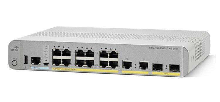 Cisco Catalyst 3560-CX Managed L3 Gigabit Ethernet (10/100/1000) White 1U Power over Ethernet (PoE)