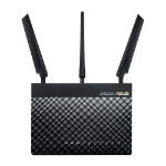 ASUS 4G-AC55U Dual-band (2.4 GHz / 5 GHz) Gigabit Ethernet 3G 4G Black wireless router