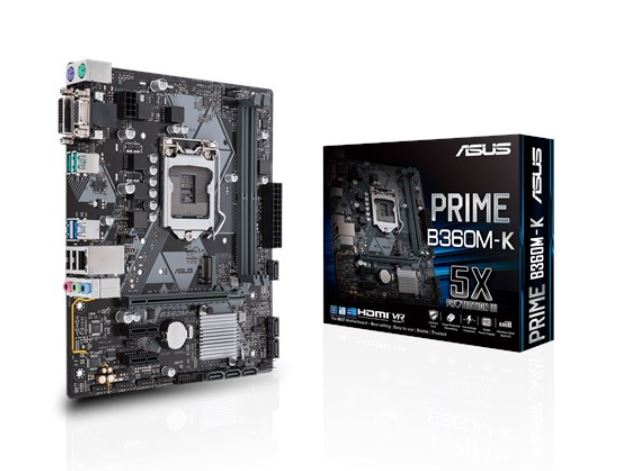 ASUS INTEL MOTHERBOARD PRIME B360M-K SOCKET 1151 B360 CHIPSET
