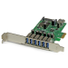 StarTech.com Adaptador tarjeta PCI Express de 7 puertos USB 3.0 con perfil bajo o completo