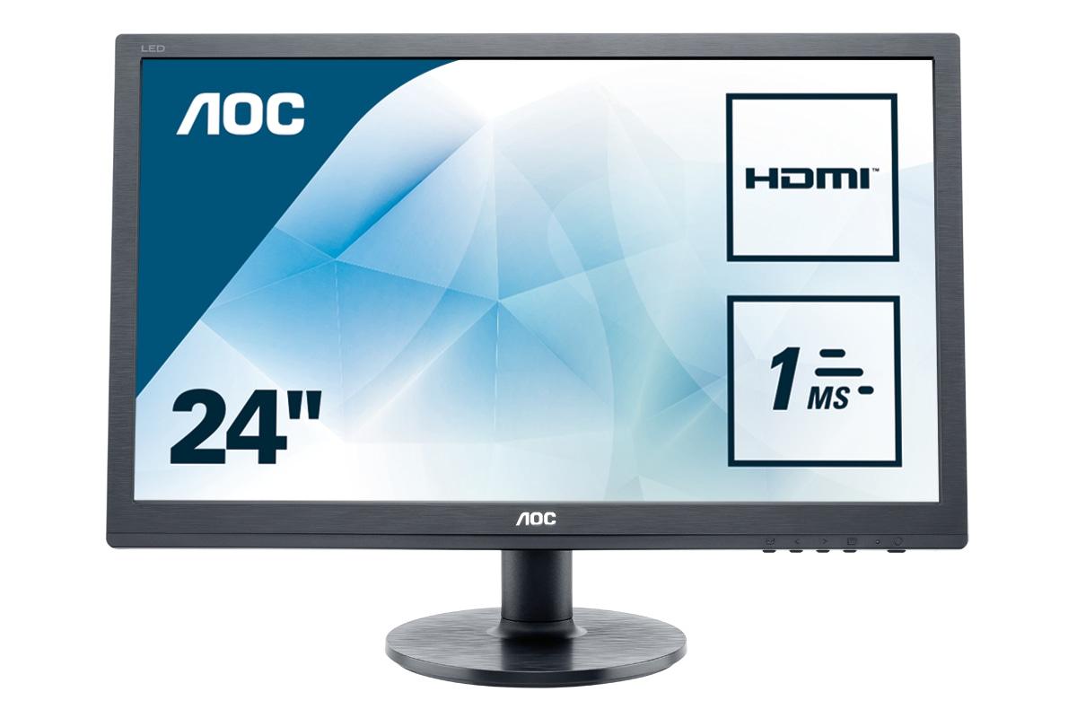 Monitor LCD 24in E2460sh 1080p 60hz 250cd/m2 1000:1 1ms D-sub DVI Hdmi