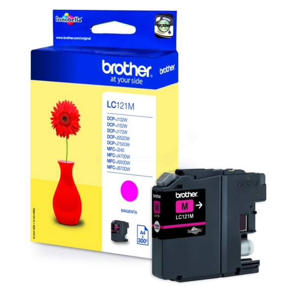 Brother LC-121M Ink cartridge magenta, 300 pages, 4ml