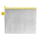 BDS HANDY ZIP POUCH 255X205MM YELLOW