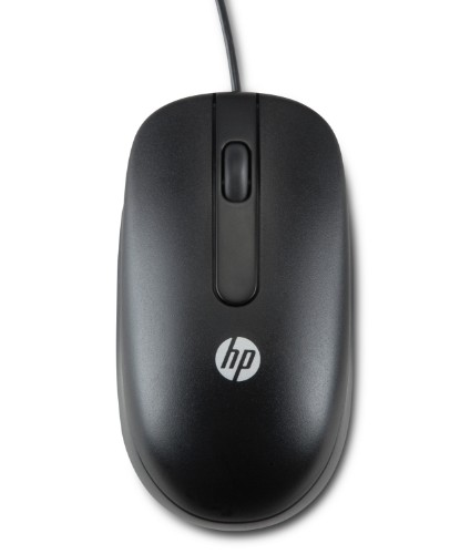 HP USB Optical Scroll Mouse mice Laser 1000 DPI Ambidextrous Black