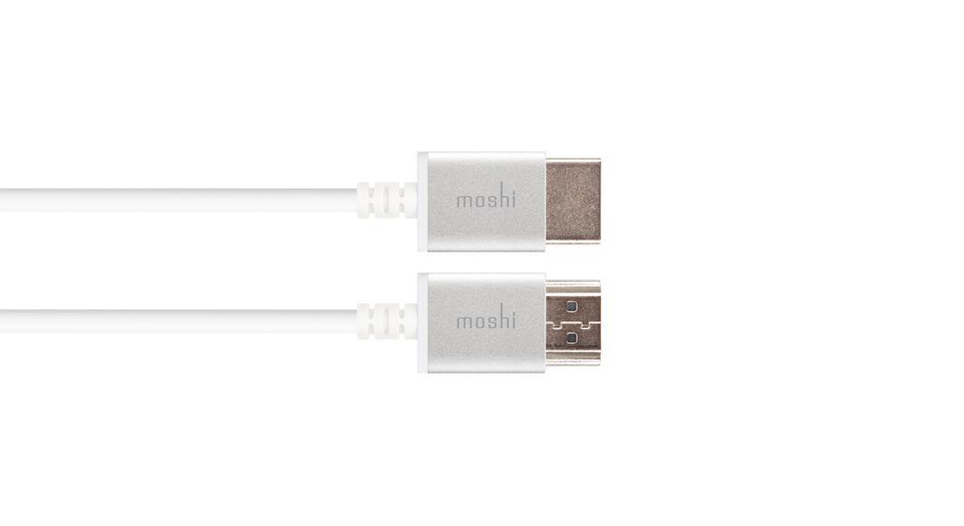 Moshi 99MO023126 2m HDMI Type A (Standard) HDMI Type A (Standard) White HDMI cable