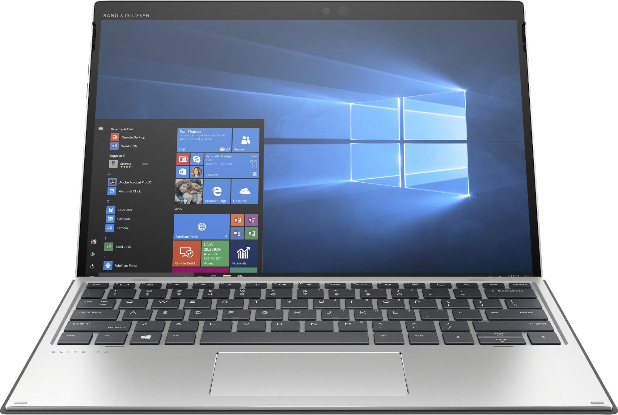 "HP Elite x2 G4 Zilver Hybride (2-in-1) 31,2 cm (12.3"") 1920 x 1280 Pixels Touchscreen Dual-screen Intel® 8ste generatie Core™ i5 i5-8265U 8 GB LPDDR3-SDRAM 256 GB SSD"