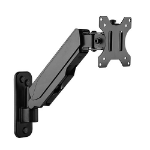 Brateck Single Screen Wall Mounted Gas Spring Monitor Arm,17'-32',Weight Capacity (per screen) 8kg;