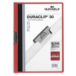 Durable Duraclip 30 report cover Red,Transparent PVC