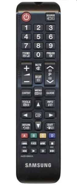 Samsung TM1240 RF Wireless Press buttons Black remote control