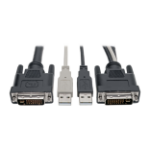 """Tripp Lite P760-010-DVI KVM cable Black 120.1"""" (3.05 m)"""