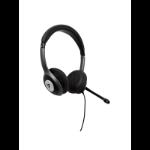 V7 HU530C headphones/headset Head-band Black, Gray USB Type-C