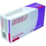 SHIELD BLUE LATEX GLOVES M PK100