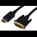 ASSMANN Electronic AK-340306-030-S adaptador de cable de vídeo 3 m DisplayPort DVI-D Negro
