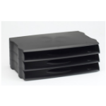 Avery DR800BLK Plastic Black desk tray