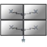 "Newstar FPMA-D935D4 27"" Silver flat panel desk mount"
