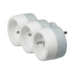 C2G 80808 Indoor 3AC outlet(s) Grey,White power extension