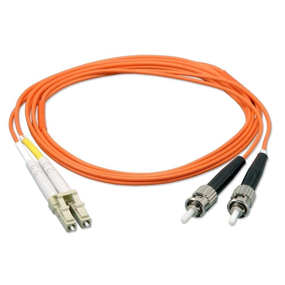 Lindy 5.0m 2x LC - 2x ST OM1 M/M fibre optic cable 5 m Orange