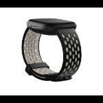 Fitbit FB174SBBKWTS accesorio de smartwatch Grupo de rock Negro, Blanco Aluminio, Silicona