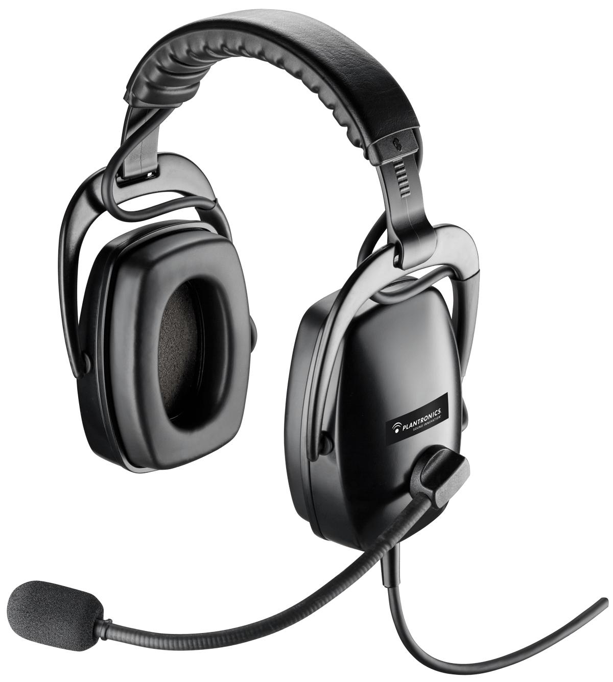 Plantronics SHR2301 01 Binaural Head-band Black headset