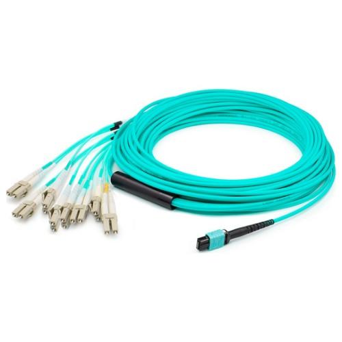 ProLabs CAB-M4-MPO/Q-LC-8-2M fibre optic cable 8x LC LOMM OM4 Aqua colour