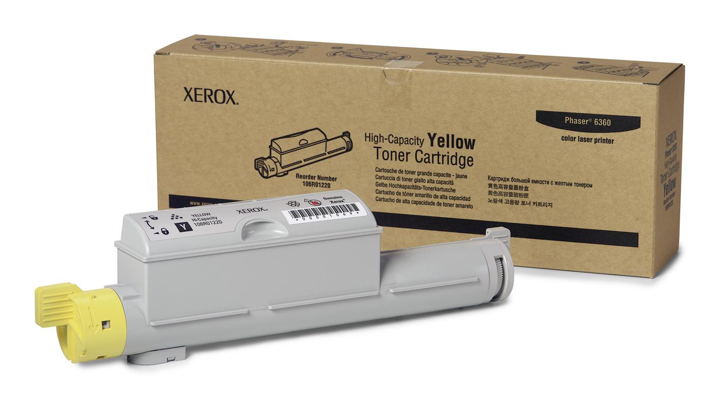 Xerox Cartucho de Tóner Amarillo de Alta Capacidad, Phaser 6360