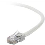 """Belkin Cat5e, 50ft, 1 x RJ-45, 1 x RJ-45, White networking cable 600"""" (15.2 m)"""