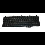 Fujitsu FUJ:CP555768-XX Docking connector QWERTY Spanish Black keyboard