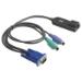 Hewlett Packard Enterprise AF629A cable para video, teclado y ratón (kvm) Negro, Azul, Verde, Púrpura