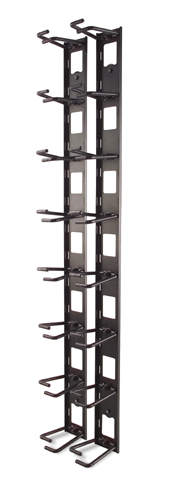 Vertical Cable Organizer/ 8 Cable Rings Zero U (qty. 2)