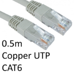 TARGET RJ45 (M) to RJ45 (M) CAT6 0.5m Grey OEM Moulded Boot Copper UTP Network Cable