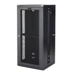 "StarTech.com 26U 19"" Wall Mount Network Cabinet - 16"" Deep Hinged Locking IT Network Switch Depth Enclosure - Assembled Vented Computer Equipment Data Rack w/Shelf & Flexible Side Panels"