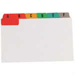 Concord Guide Cards A-Z 203x127mm White with Multicol Tabs