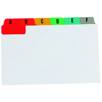 Concord Guide Cards A-Z 203x127mm White with Multicoloured Tabs