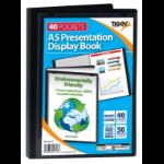 Tiger A5 Presentation Display Book Black 40 Pocket