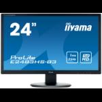 "iiyama ProLite E2483HS-B3 LED display 61 cm (24"") Full HD Flat Matt Black"