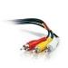 C2G 5M Value Series RCA-Type Audio/Video Cable 5m 3 x RCA RCA Plug x3 Black composite video cable