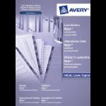 Avery Mylar Reinforced 1 - 100 White divider