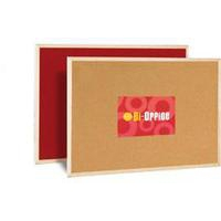 Bi-Office BI SILQUE MEMO CORK BOARD RED 600X900MM