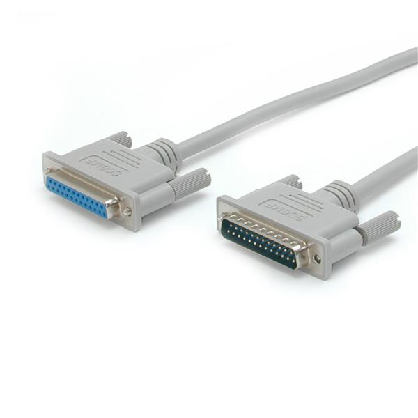 StarTech.com 10 ft. Straight Through Serial/Parallel Cable DB25 M/F