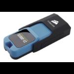 Corsair Voyager Slider X2 64GB 64GB USB 3.0 (3.1 Gen 1) Type-A Black,Blue USB flash drive