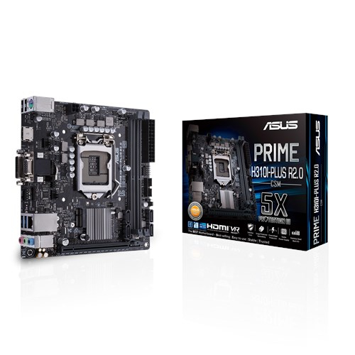 ASUS PRIME H310I-PLUS R2.0/CSM motherboard LGA 1151 (Socket H4) Mini ITX Intel® H310