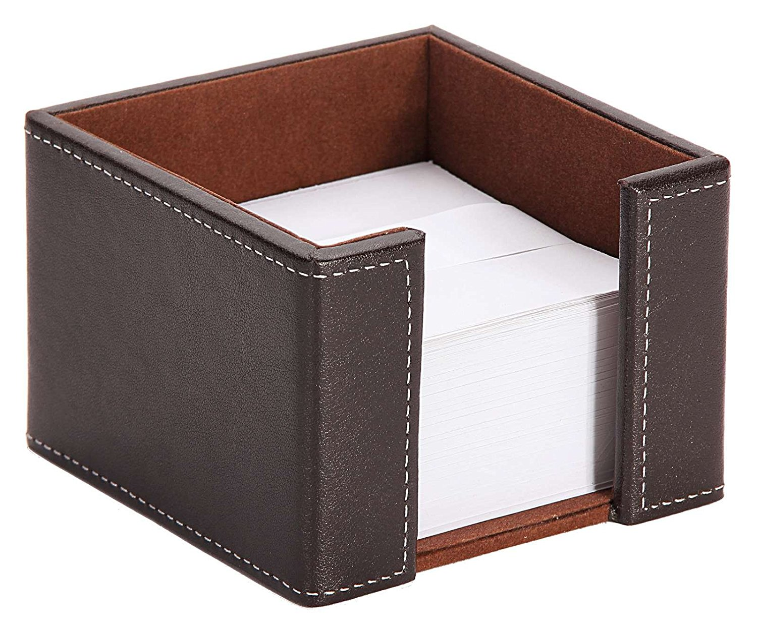 Osco Faux Leather Memo Pad Holder Brown